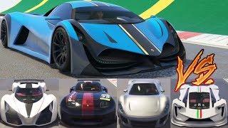 GTA 5 - Top Speed Drag Race (Principe Deveste Eight vs X80, Vagner, Tezeract, 811, etc.)
