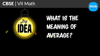 What Is The Meaning Of Average? | CBSE Class 7 Maths- NCERT Data Handling | Tata Studi (TCE)