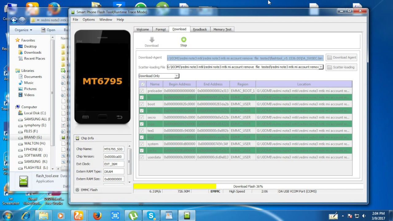 xiaomi redmi note3 mtk flash mi account relock remove 100 done mt technology