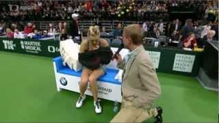 "Maria Sharapova's ""injury"" during the 2012 Prague Exhibition Match"