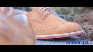 Женские замшевые туфли оксфорды Caman Elastic
