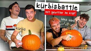Tourette VS Blind - KÜRBIS SCHNITZEN 🎃🔪 (mit Gewitter im Kopf)