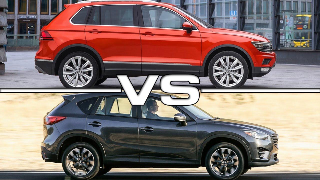 2016 Mazda CX-5 vs 2017 VW Tiguan - YouTube
