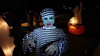 TRICK OR TREATING and GIVING OUT HALLOWEEN CANDY (October 31, 2017)