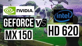 NVIDIA Geforce MX150 VS Intel HD 620 - Gaming Performance Test!