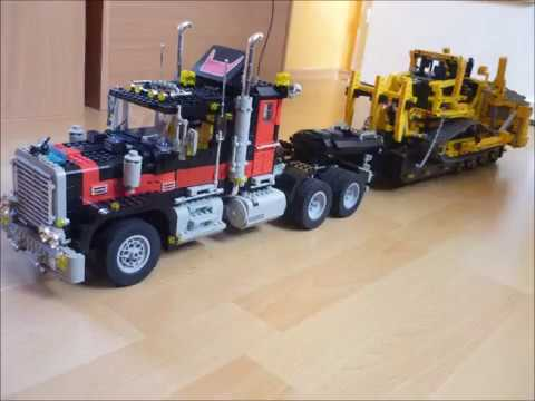 gro e lego technic sammlung collection trucks trucks. Black Bedroom Furniture Sets. Home Design Ideas