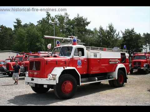LOS  LEGENDARIOS  FIRE TRUCKS  MAGIRUS DEUTZ.wmv Videos De Viajes