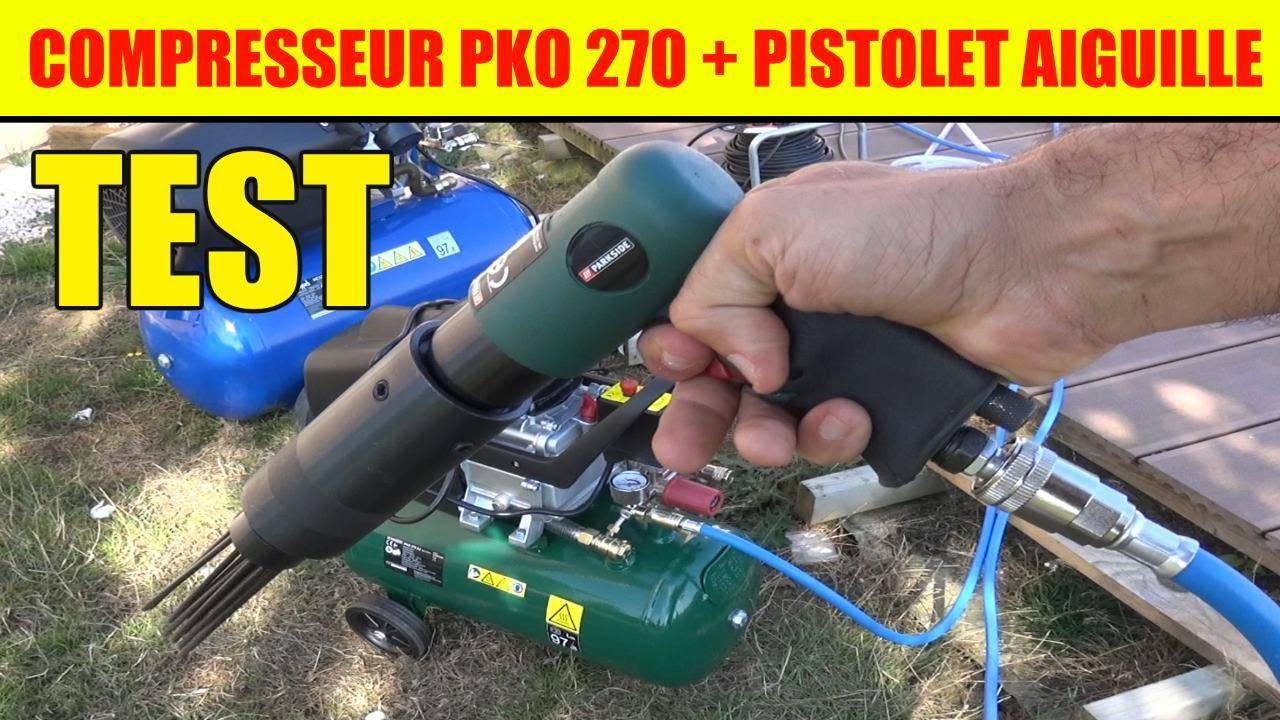 Lidl Compresseur Parkside Pko 270 Pistolet à Aiguilles
