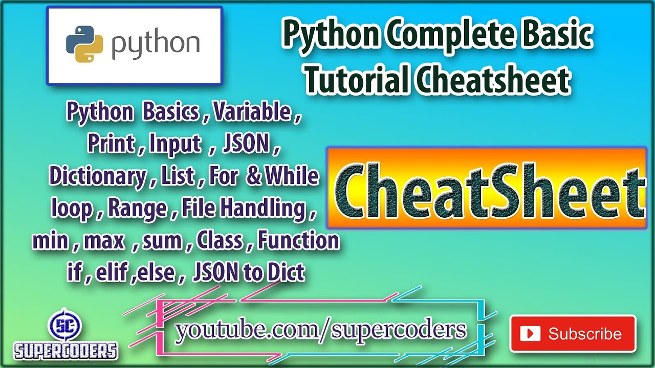 Python Complete Basic Tutorial in 20 Minutes