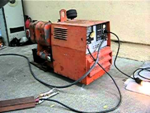 lincoln arc welder wiring diagram vfd starter kohler cast iron gasoline powered 150 amp 4 5 kw generator 2 youtube