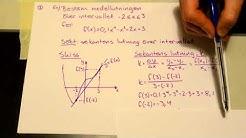 Derivata 1: Sekant, tangent och lutningens enhet