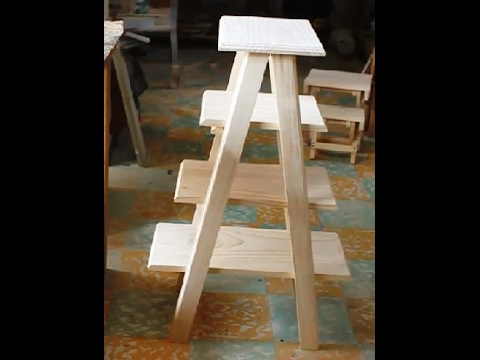 Repisa en madera youtube for Repisa escalera
