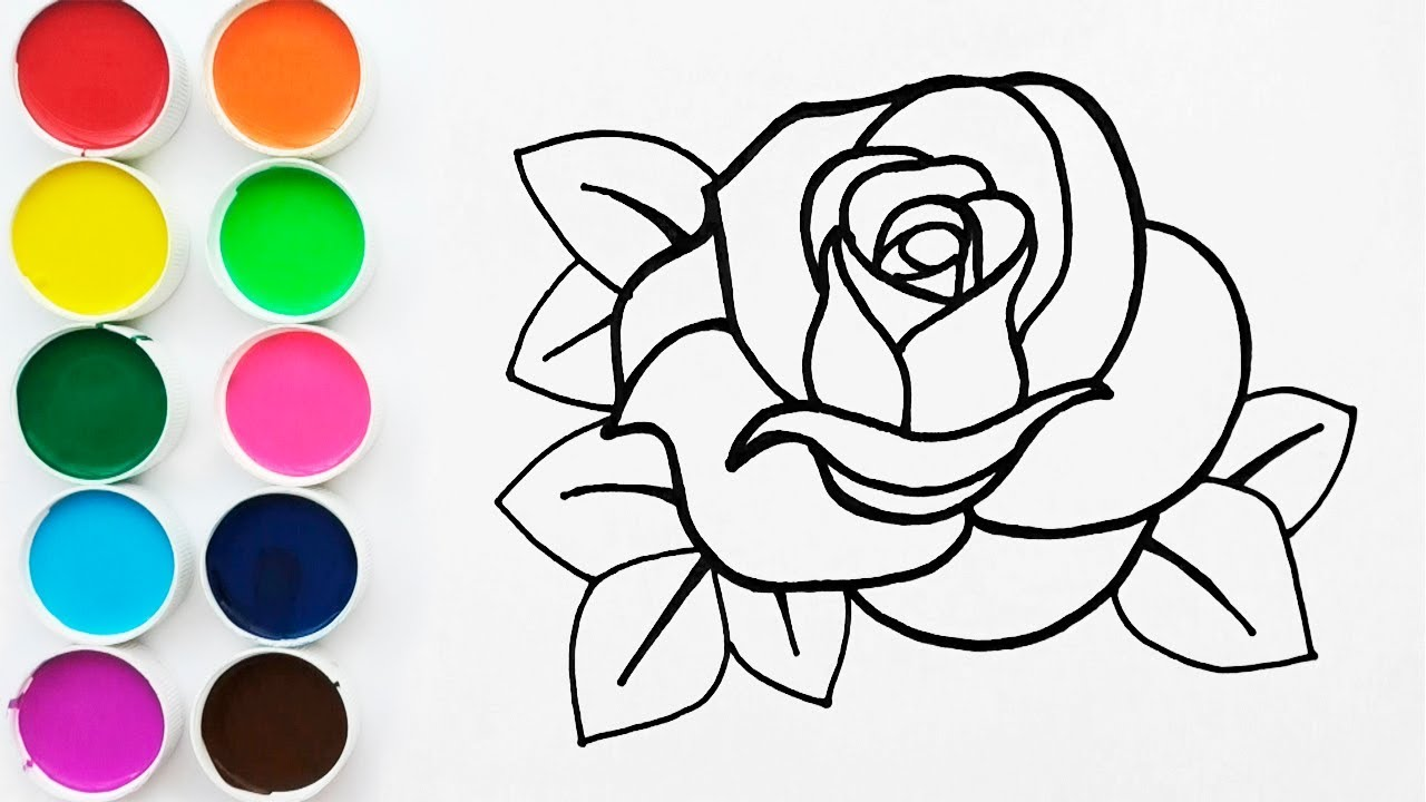 Como Dibujar Y Pintar Una Rosa Videos Para Ninos How To Draw A