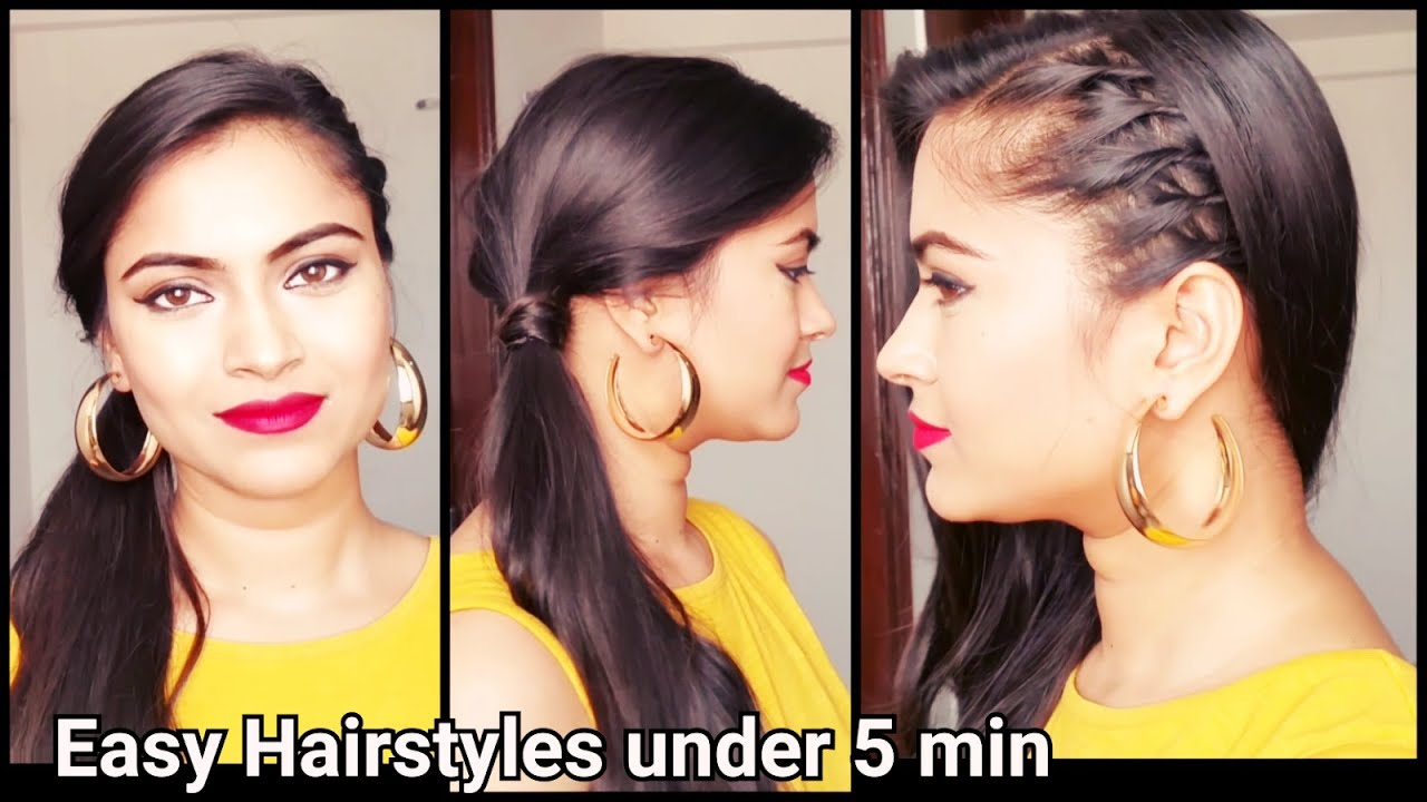 easy hairstyles for school/college/office // indian hairstyles for shoulder  length/medium/long hair