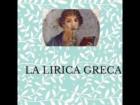 La lirica greca