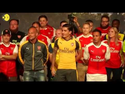 Arsenal reveal their new kit in California