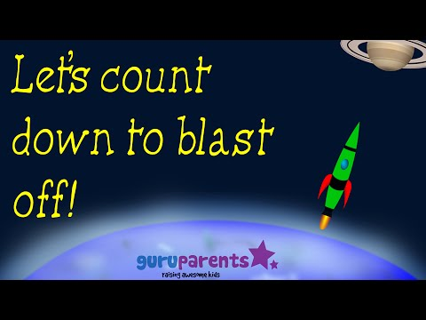 Counting Down From 10 | Countdown to blastoff| Counting Backwards Video For Kids