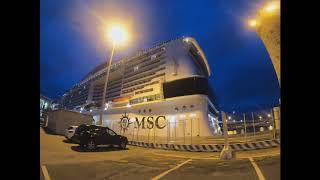MSC Grandiosa в вечерних огнях ноябрь 2019