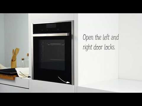 How to remove and replace your NEFF Slide&Hide® oven door for cleaning | NEFF Home UK