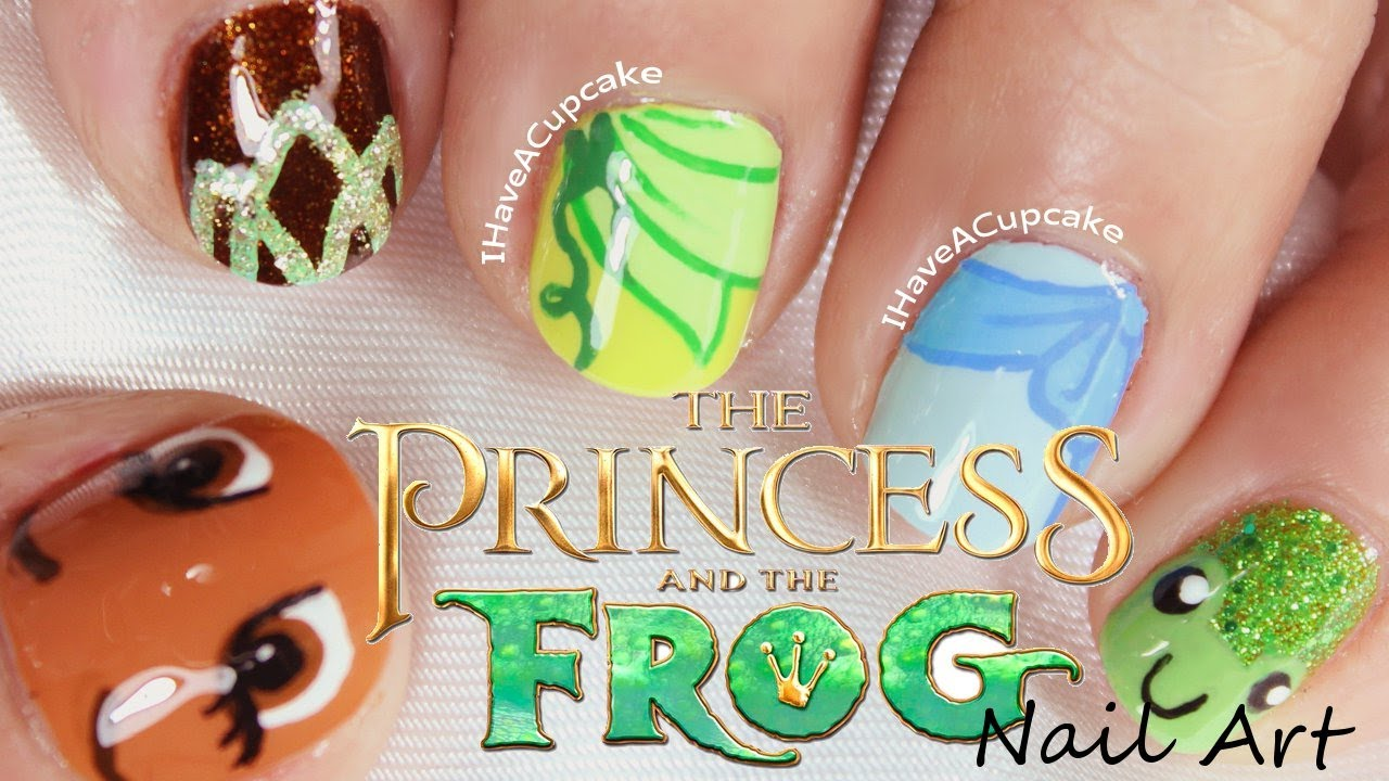 princess and frog nail art