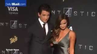 Miles Teller & Keleigh Sperry at Fantastic Four NY premiere