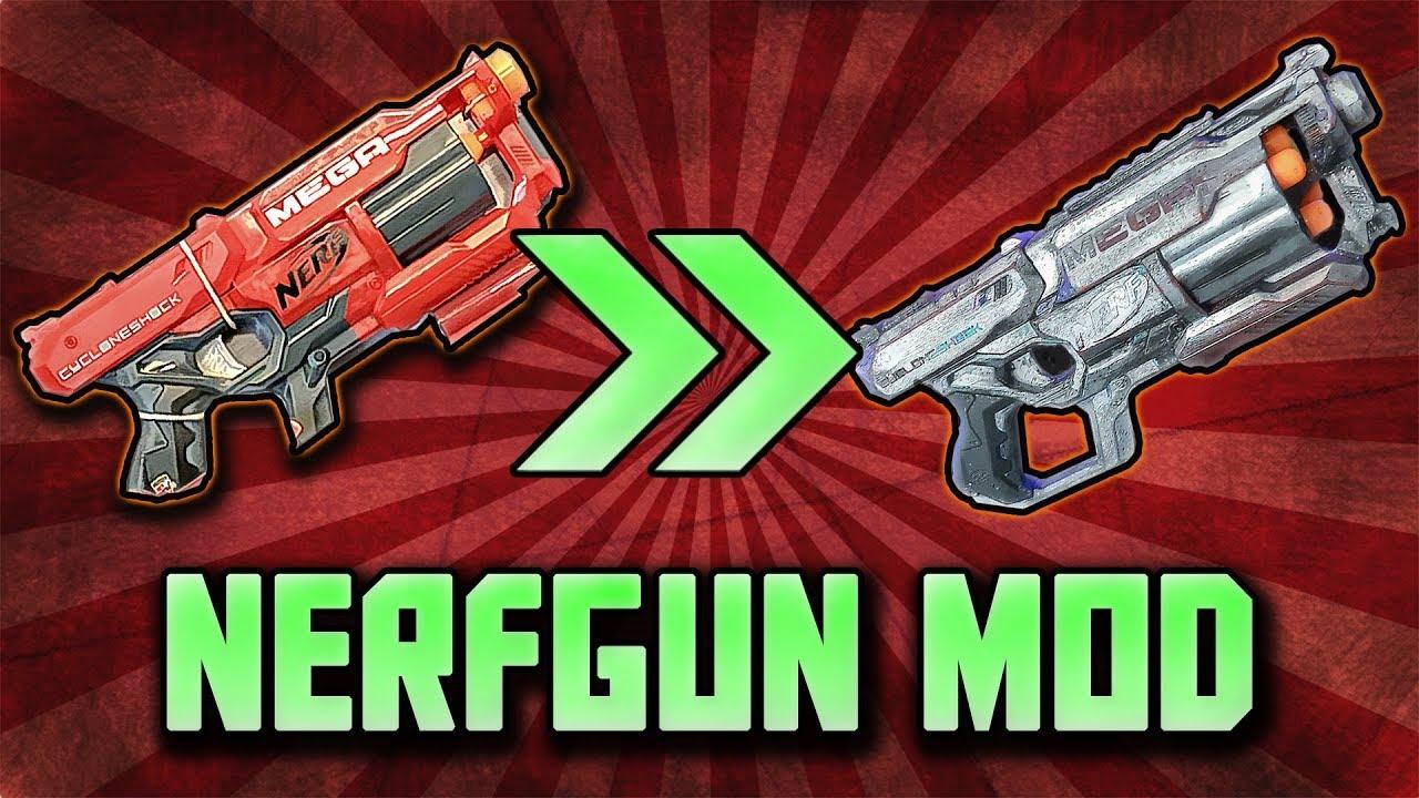 Nerfgun modding zu real life fallout pistole! zu viel durchschlag