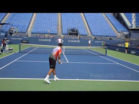 Radek Stepanek Practice US Open 2014 1/2