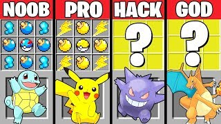 Minecraft Battle: POKEMON CRAFTING CHALLENGE - NOOB vs PRO vs HACKER vs GOD ~ Minecraft Animation