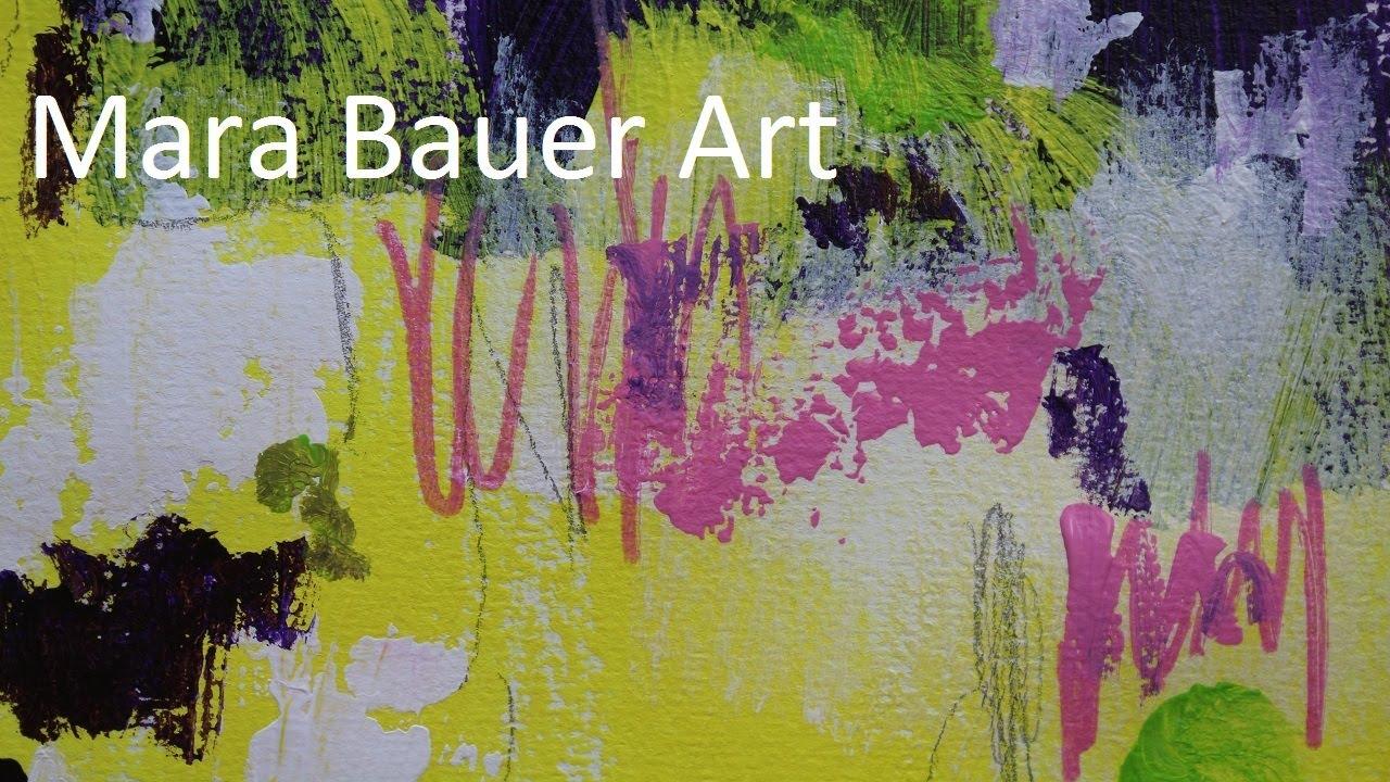 kleines acrylbild auf papier zum nachmalen - painting demo