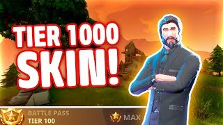 LEVEL TIER 100 SKIN I FORTNITE!! (DANSK FORTNITE)