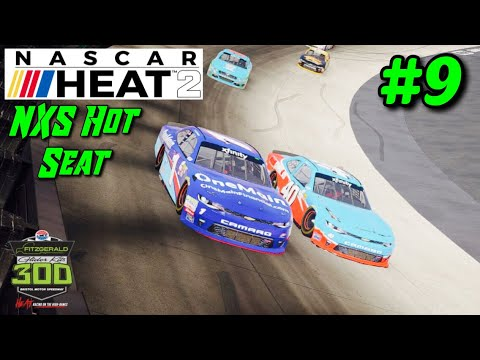 """NXS Hot Seat Front Running"" Bristol: NASCAR Heat 2 Career Mode Part 9"
