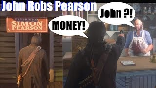 RDR2 John Robs Pearson & Destroys His Store - Red Dead Redemption 2 PS4 Pro