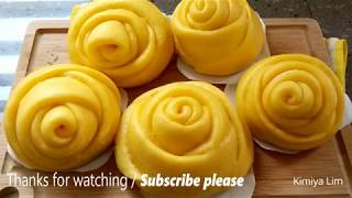 Rose Pumpkin Steamed Buns