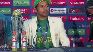 Sarfraz Ahmed after winning ICC champions trophy Final - India vs Pakistian - Press Conference 2017