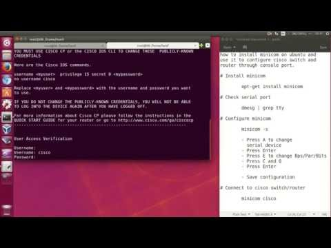 How to install minicom on Ubuntu to configure Cisco switches and routers through the console port