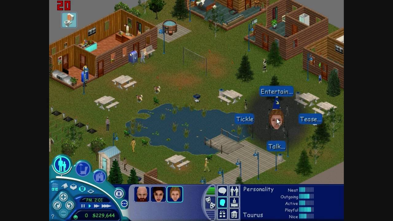 Sims vacation