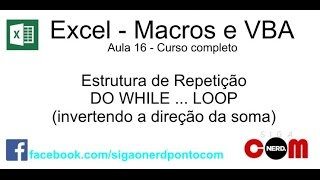 #16 - Curso de Macros e Excel VBA - Do While / Loop