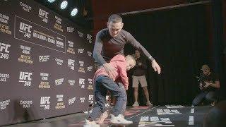 UFC 240: Open Workout Recap