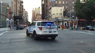 NYPD POLICE INTERCEPTOR UTILITY UNIT RESPONDING ON E. 3RD ST. IN THE EAST VILLAGE, MANHATTAN, NYC.