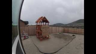 Swing Set Play House Timelapse Build