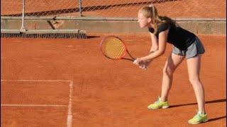 Darya Chamadanava - College tennis recruiting video - Spring 2019