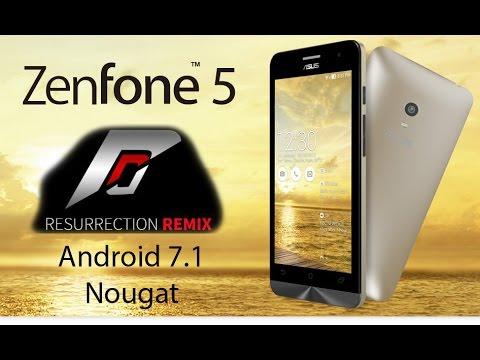 Asus ZenFone 5  простая установка Resurrection Remix N 5.8.2 by tank0412 Android N 7.1