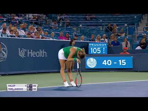 Halep vs Tomljanovic highlights - 3 on court coaching by HALEP CAHILL