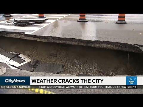 Weather cracks the city