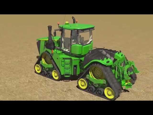 Animation du tracteur John Deere 9RX