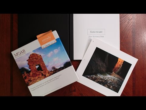 How to Print a Moab Photo Portfolio Book