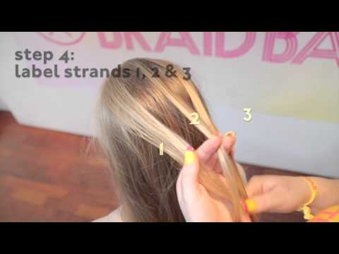 Simple French Braid Hairstyle for Girls