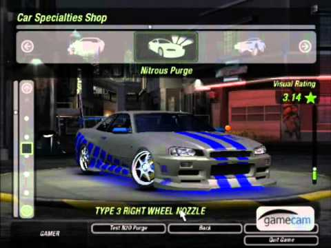 nfs underground 2 nissan skyline z fast and furious youtube - Fast And Furious Cars Skyline