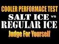 COOLER PERFORMANCE. The Salt Ice vs Regular Ice Debate.