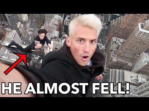 HANGING 1,200 FT ABOVE NEW YORK CITY! NEAR DEATH!